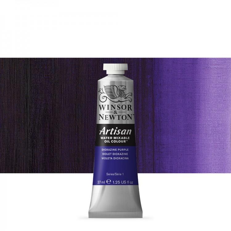 Winsor & Newton : Artisan Water Mixable Oil Paint : 37ml : Dioxazine Purple