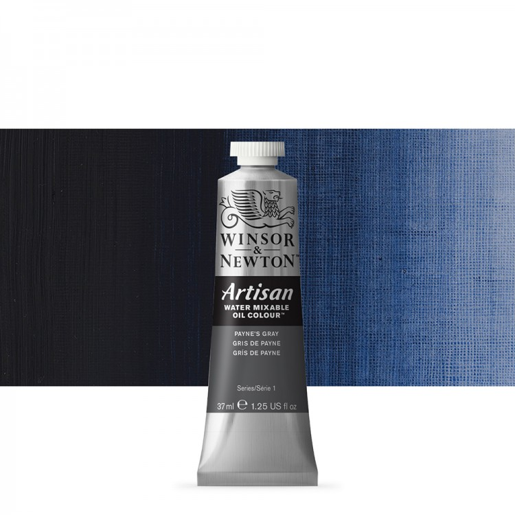 Winsor & Newton : Artisan Water Mixable Oil Paint : 37ml : Paynes Gray