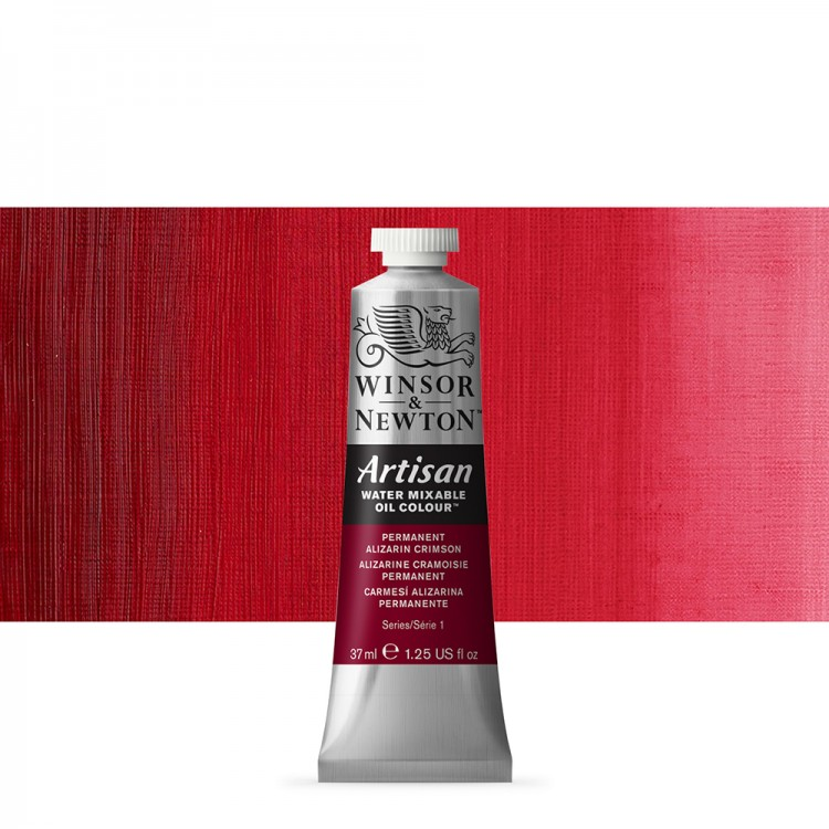 Winsor & Newton : Artisan Water Mixable Oil Paint : 37ml : Perm. Alizarin Crimson