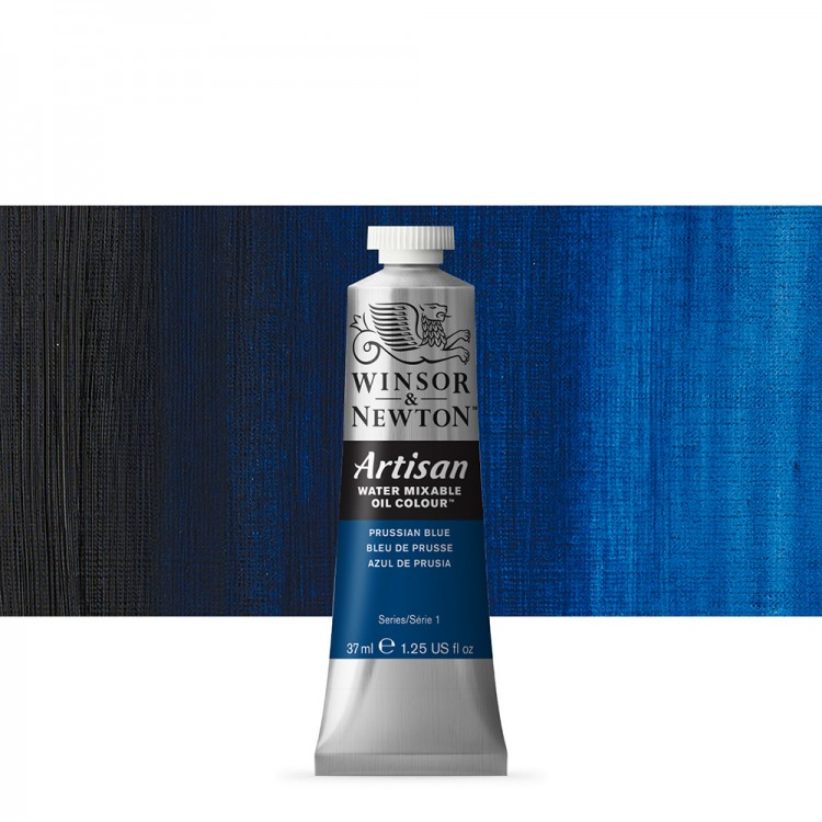 Winsor & Newton : Artisan Water Mixable Oil Paint : 37ml : Prussian Blue