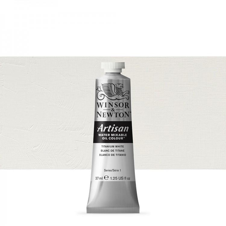 Winsor & Newton : Artisan Water Mixable Oil Paint : 37ml : Titanium White