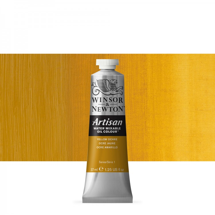 Winsor & Newton : Artisan Water Mixable Oil Paint : 37ml : Yellow Ochre