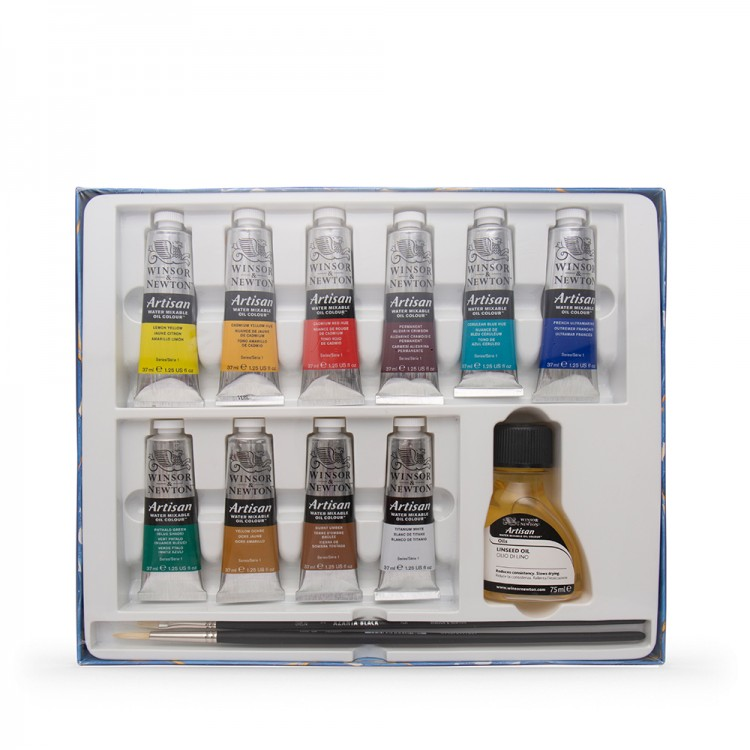 Winsor & Newton : Artisan Water Mixable Oil Paint : Studio Set Of 10x37ml :