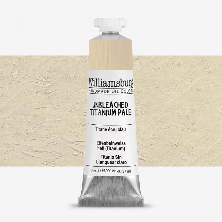 Williamsburg : Oil Paint : 37ml Unbleached Titanium Pale