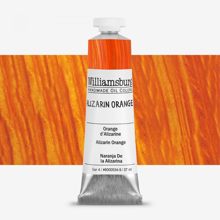 Williamsburg : Oil Paint : 37ml Alizarin Orange
