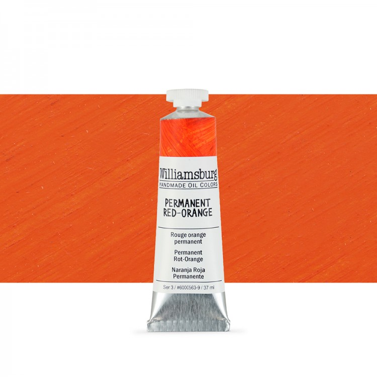 Williamsburg : Oil Paint : 37ml Permanent Red-Orange