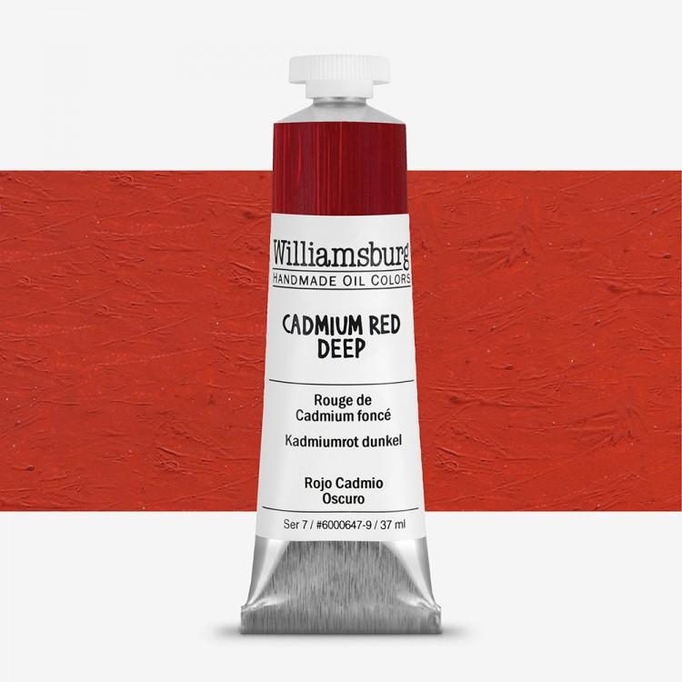 Williamsburg : Oil Paint : 37ml Cadmium Red Deep