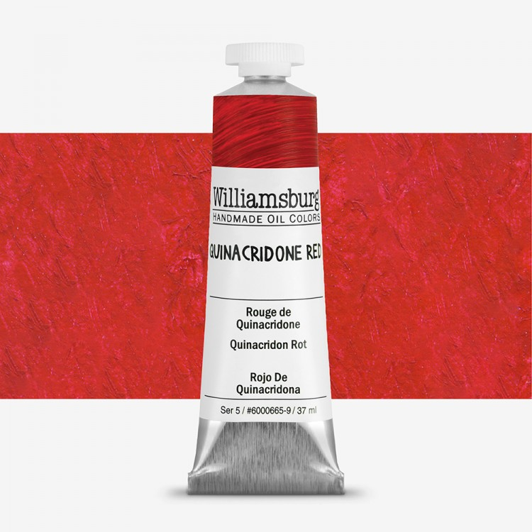 Williamsburg : Oil Paint : 37ml Quinacridone Red