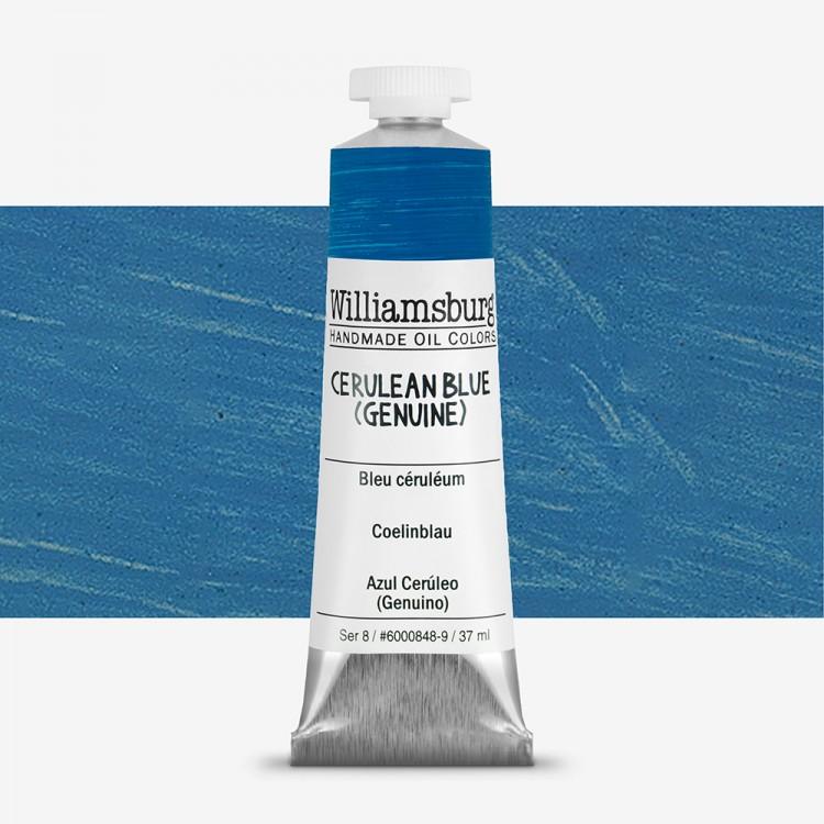 Williamsburg : Oil Paint : 37ml Cerulean Blue (Genuine)