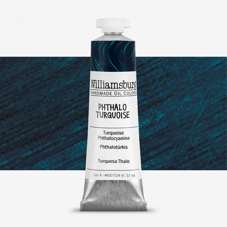 Williamsburg : Oil Paint : 37ml Phthalo Turquoise