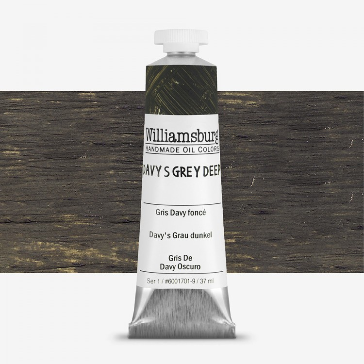 Williamsburg : Oil Paint : 37ml Davy's Grey Deep