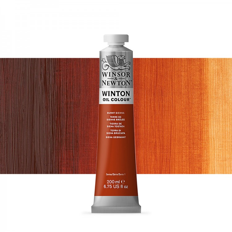 Winsor & Newton : Winton Oil Paint : 200ml : Burnt Sienna