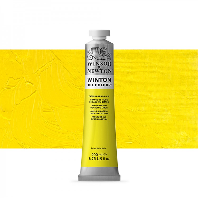 Winsor & Newton : Winton Oil Paint : 200ml : Cadmium Lemon Hue
