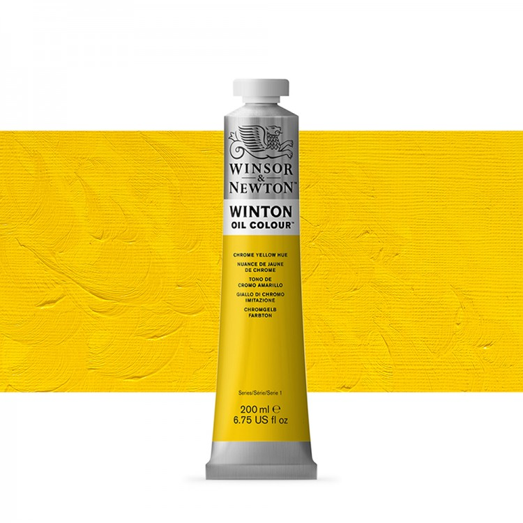Winsor & Newton : Winton Oil Paint : 200ml : Chrome Yellow Hue