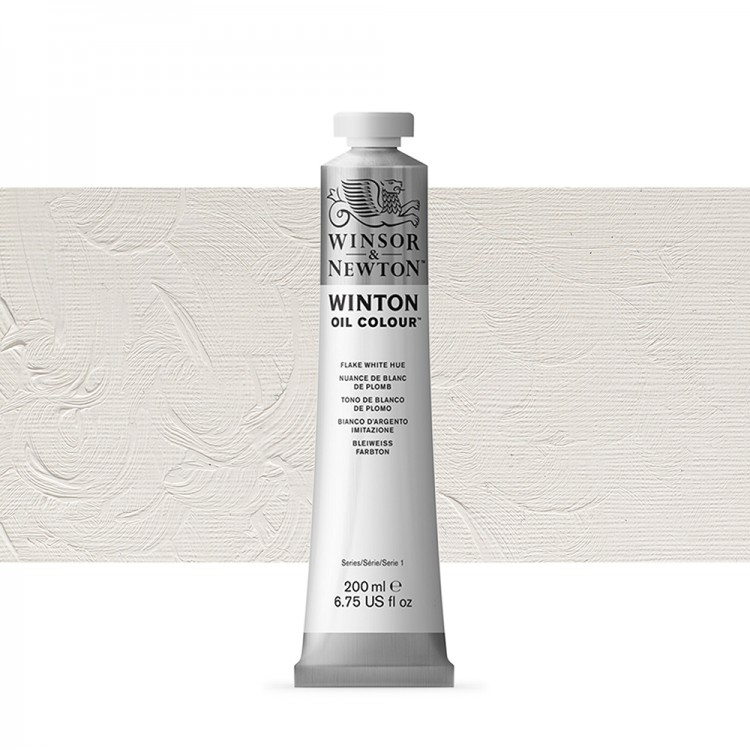 Winsor & Newton : Winton : Oil Paint : 200ml : Flake White Hue