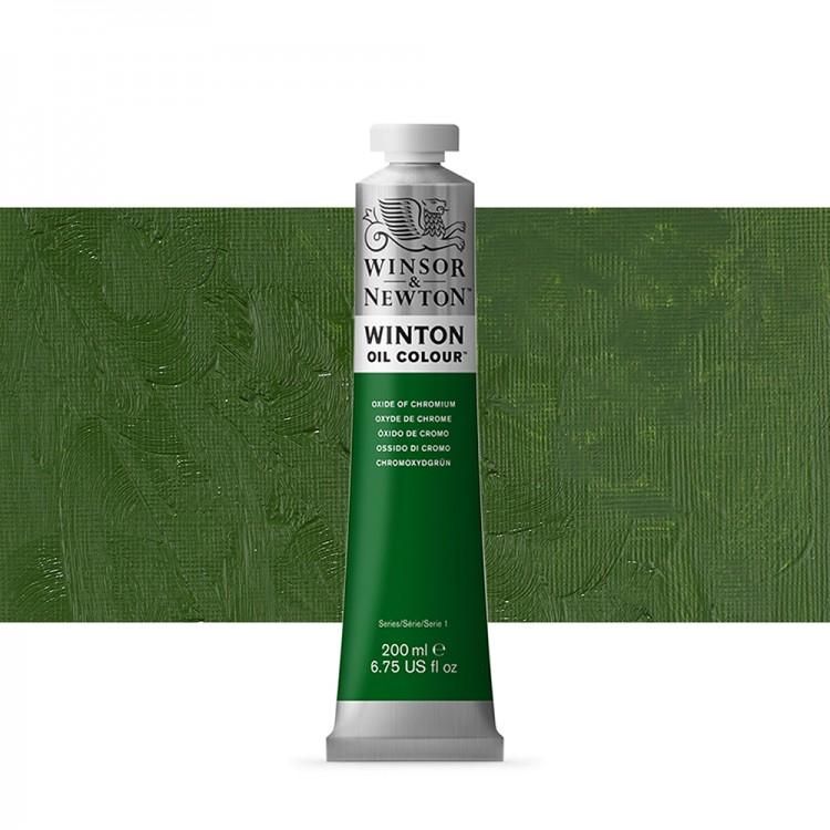 Winsor & Newton : Winton Oil Paint : 200ml : Oxide Of Chromium