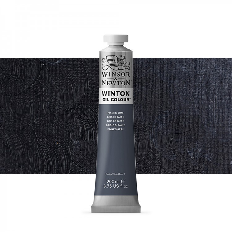 Winsor & Newton : Winton Oil Paint : 200ml : Paynes Grey