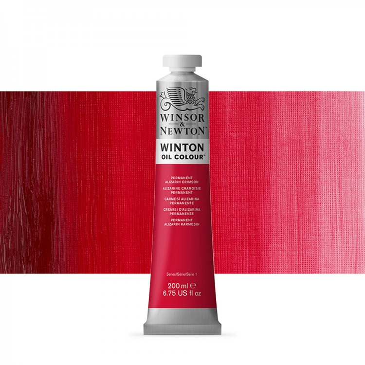 Winsor & Newton : Winton : Oil Paint : 200ml : Permanent Alizarin Crimson