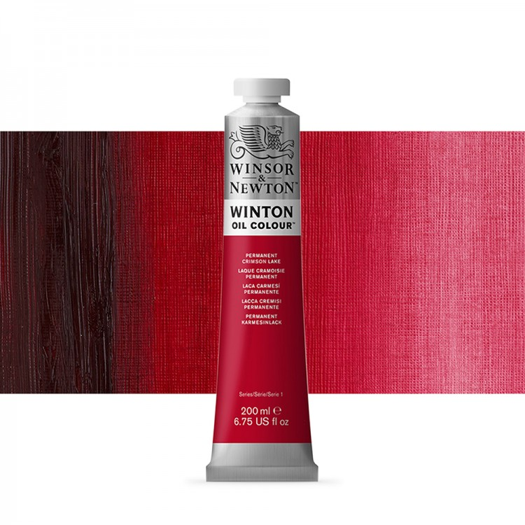 Winsor & Newton : Winton Oil Paint : 200ml : Permanent Crimson Lake