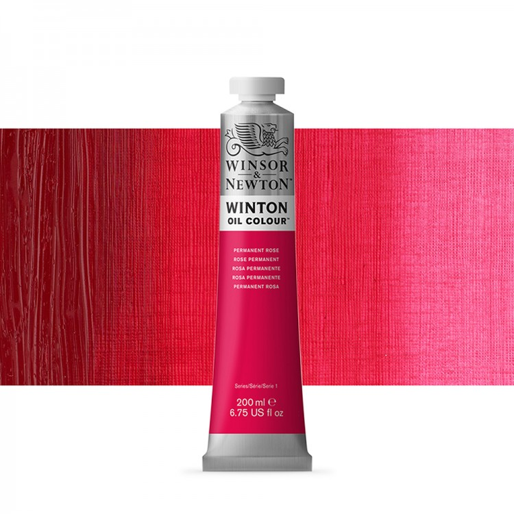Winsor & Newton : Winton Oil Paint : 200ml : Permanent Rose