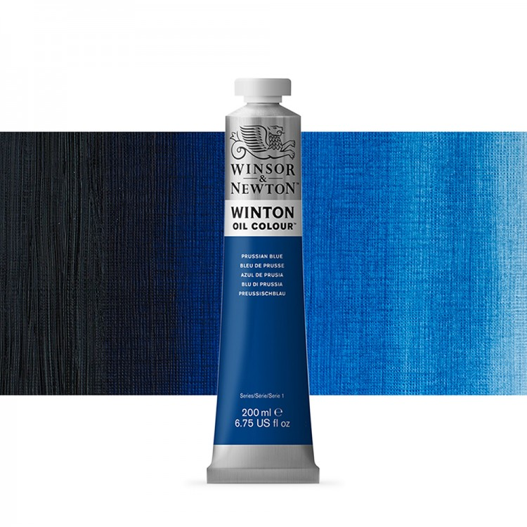 Winsor & Newton : Winton Oil Paint : 200ml : Prussian Blue
