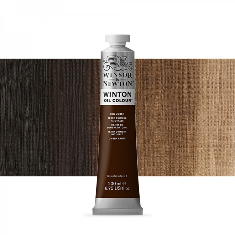 Winsor & Newton : Winton Oil Paint : 200ml : Raw Umber