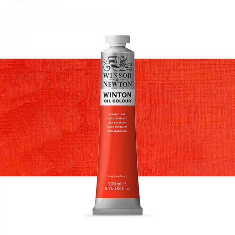 Winsor & Newton : Winton Oil Paint : 200ml : Scarlet Lake
