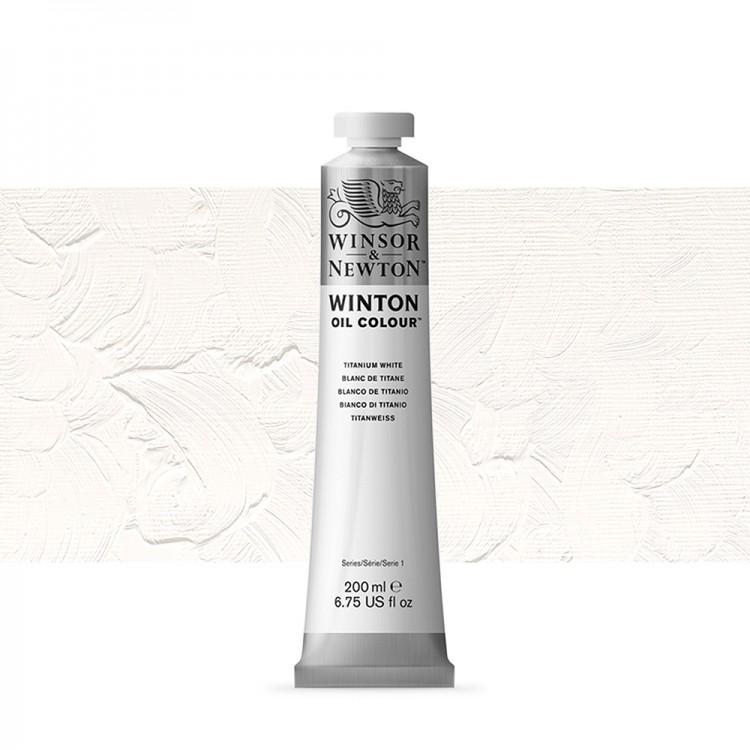 Winsor & Newton : Winton Oil Paint : 200ml : Titanium White