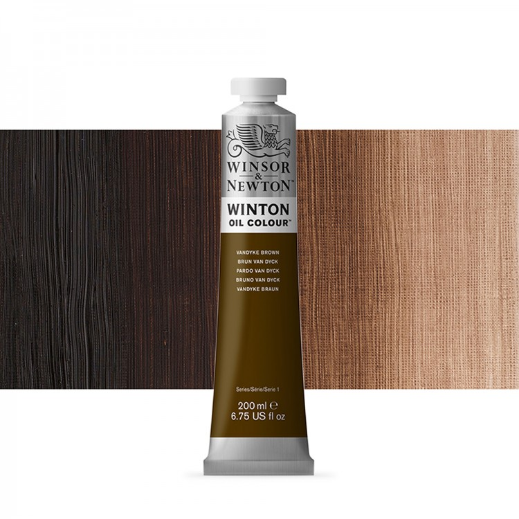 Winsor & Newton : Winton Oil Paint : 200ml : Van Dyke Brown