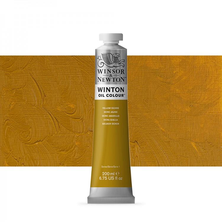 Winsor & Newton : Winton Oil Paint : 200ml : Yellow Ochre