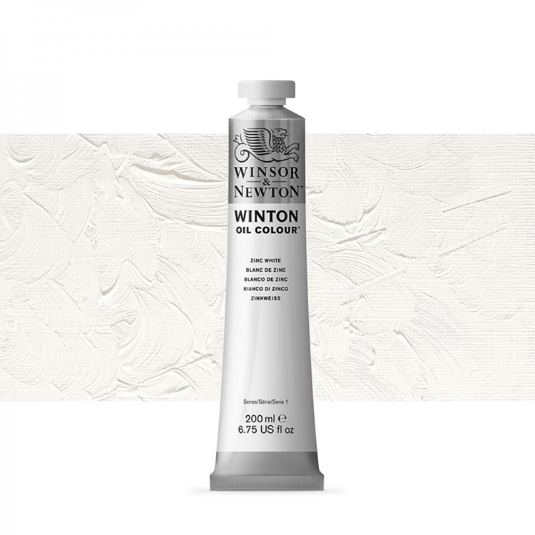 Winsor & Newton : Winton Oil Paint : 200ml : Zinc White