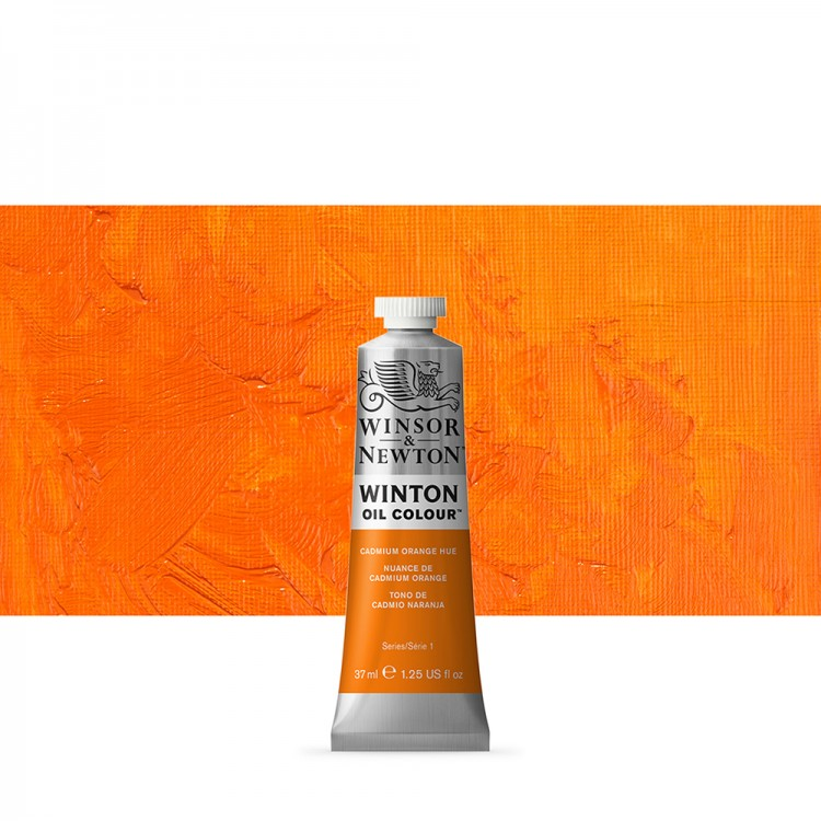 Winsor & Newton : Winton Oil Paint : 37ml : Cadmium Orange Hue