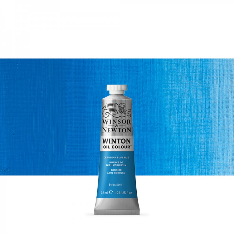 Winsor & Newton : Winton Oil Paint : 37ml : Cerulean Blue Hue
