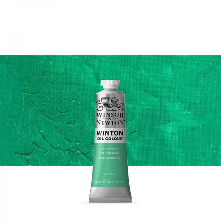 Winsor & Newton : Winton Oil Paint : 37ml : Emerald Green Hue