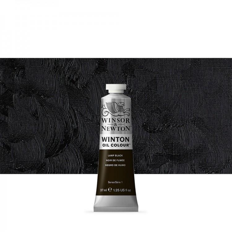 Winsor & Newton : Winton : Oil Paint : 37ml : Lamp Black