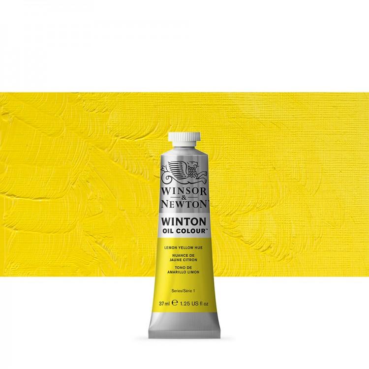 Winsor & Newton : Winton Oil Paint : 37ml : Lemon Yellow Hue