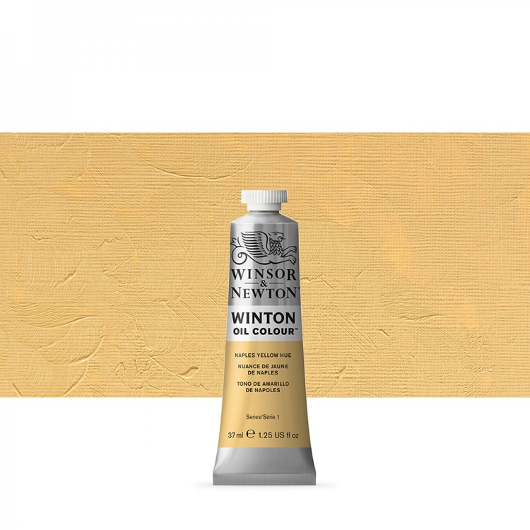 Winsor & Newton : Winton Oil Paint : 37ml : Naples Yellow Hue