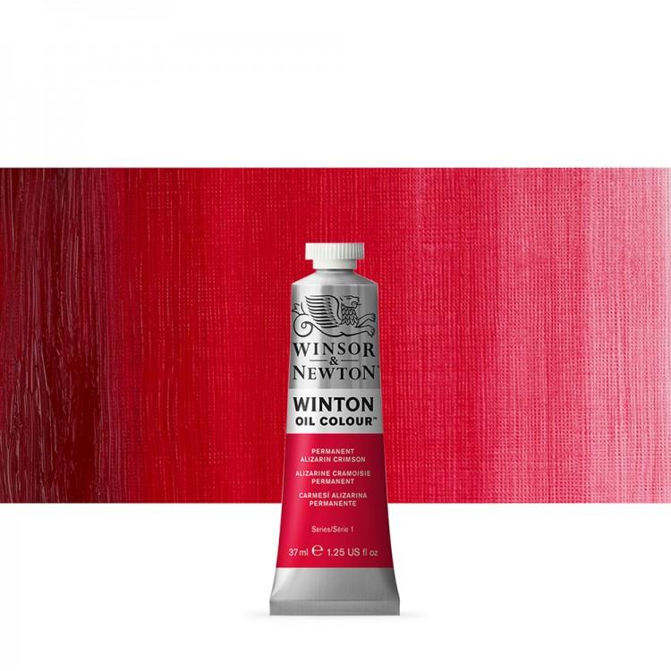 Winsor & Newton : Winton Oil Paint : 37ml : Permanent Alizarin Crimson