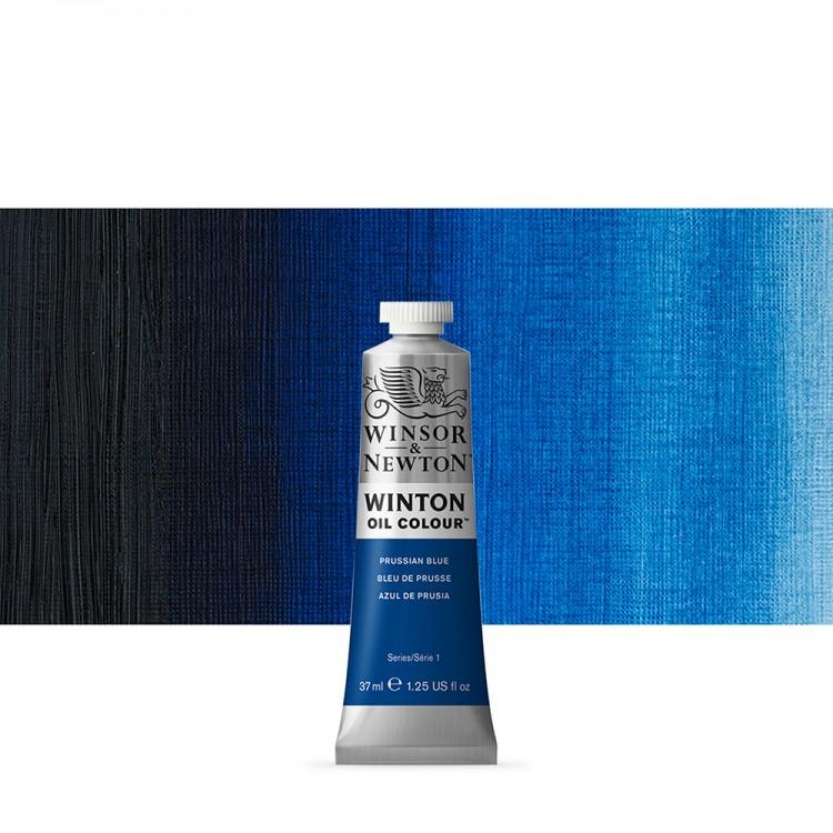Winsor & Newton : Winton Oil Paint : 37ml : Prussian Blue