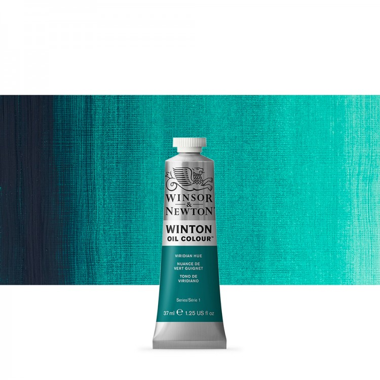 Winsor & Newton : Winton Oil Paint : 37ml : Viridian Hue