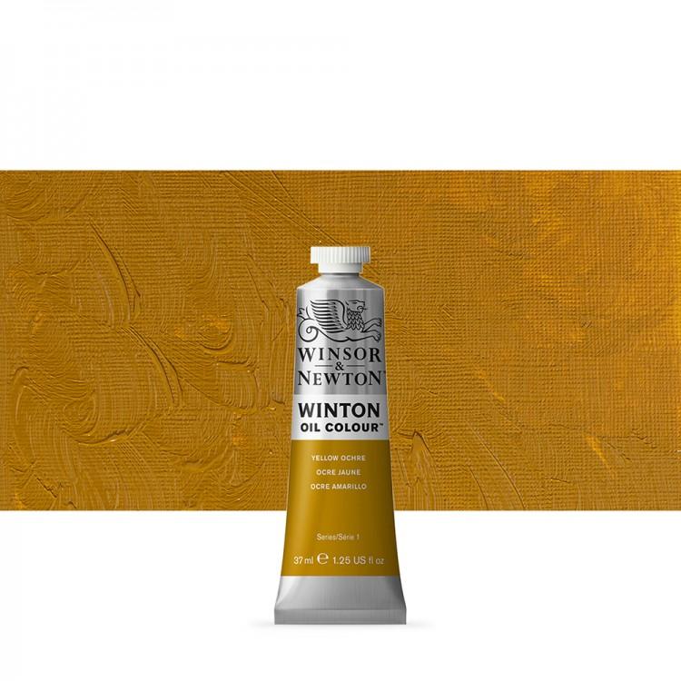 Winsor & Newton : Winton Oil Paint : 37ml : Yellow Ochre