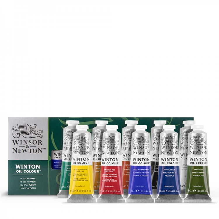Winsor & Newton : Winton Oil Paint : 37ml : Set Of 10 Tubes