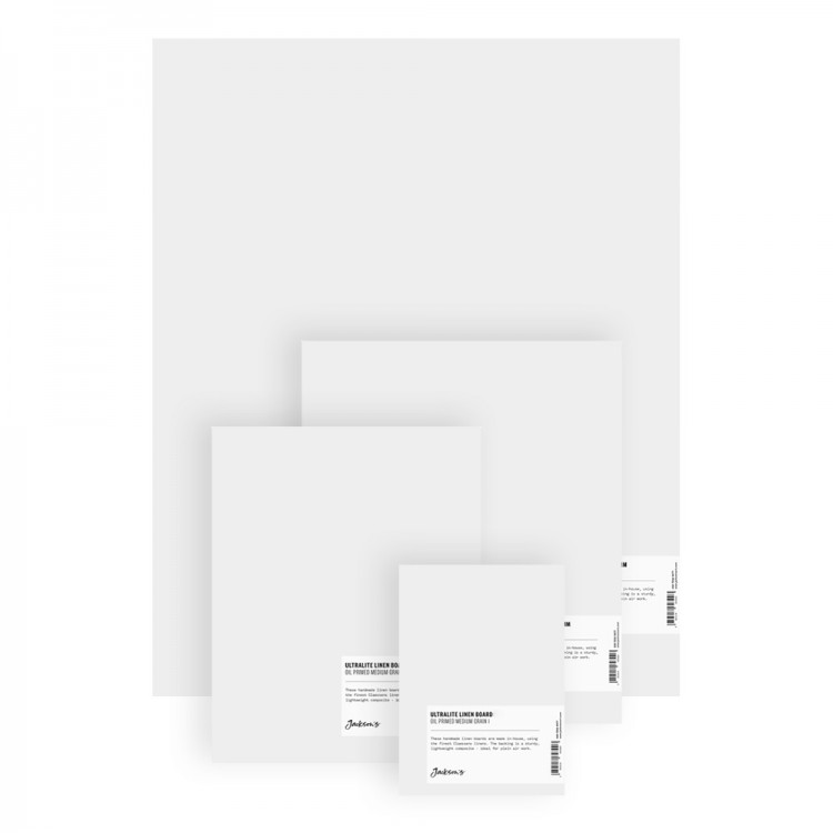 Jackson's : 0.8mm : Ultralite Linen Board : Claessens 166 Medium Surface : Universal Primed : 415gsm