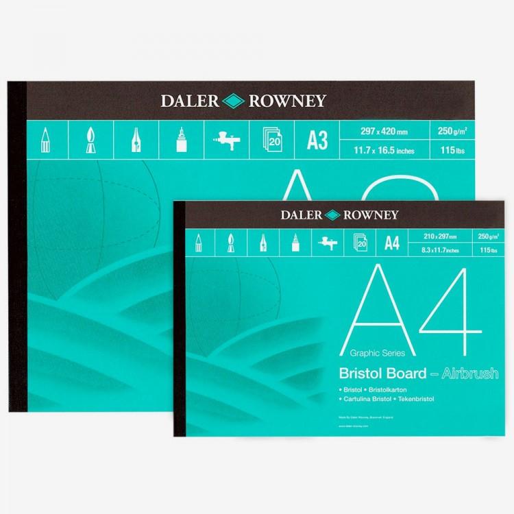 Daler Rowney : Bristol Board : 250gsm Gummed Pads