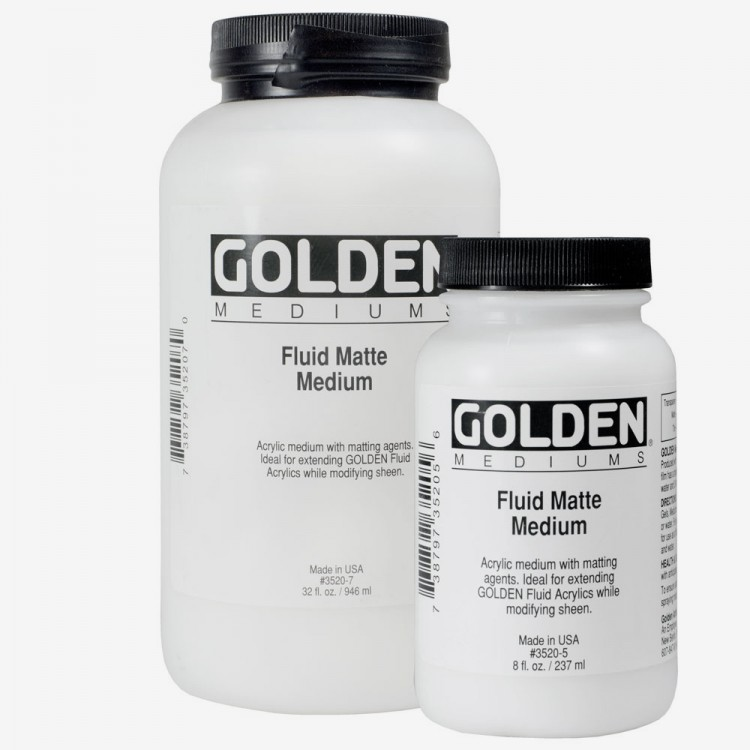 Golden : Fluid Matte Mediums