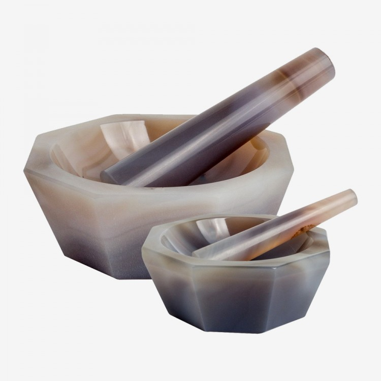 Handover : Genuine Agate Pestles and Mortars