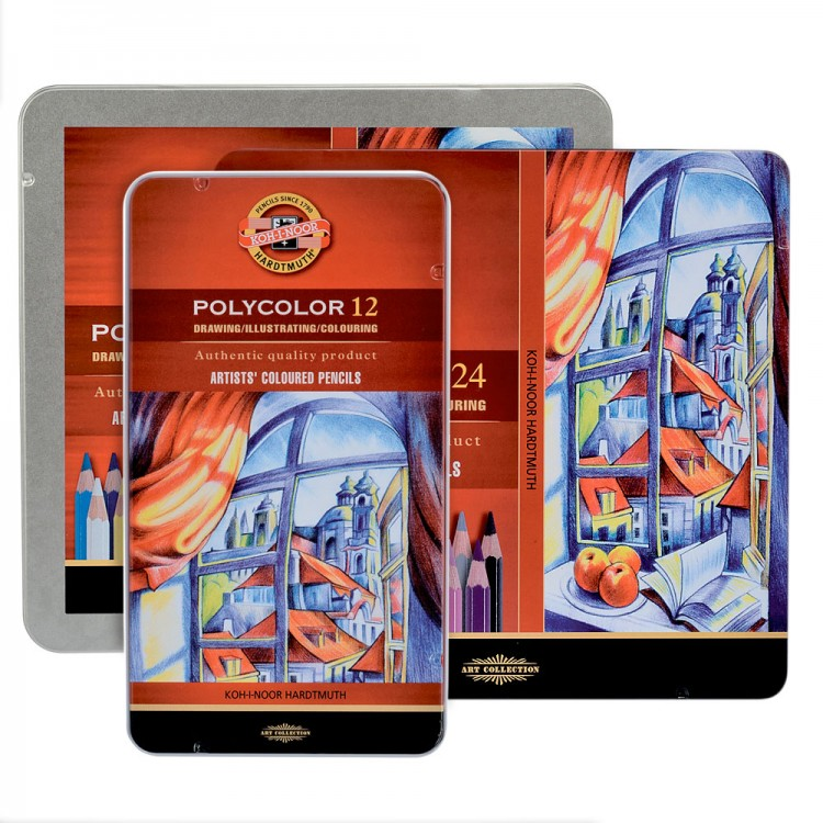 Koh-I-Noor : Polycolor Set of Artists Coloured Pencils