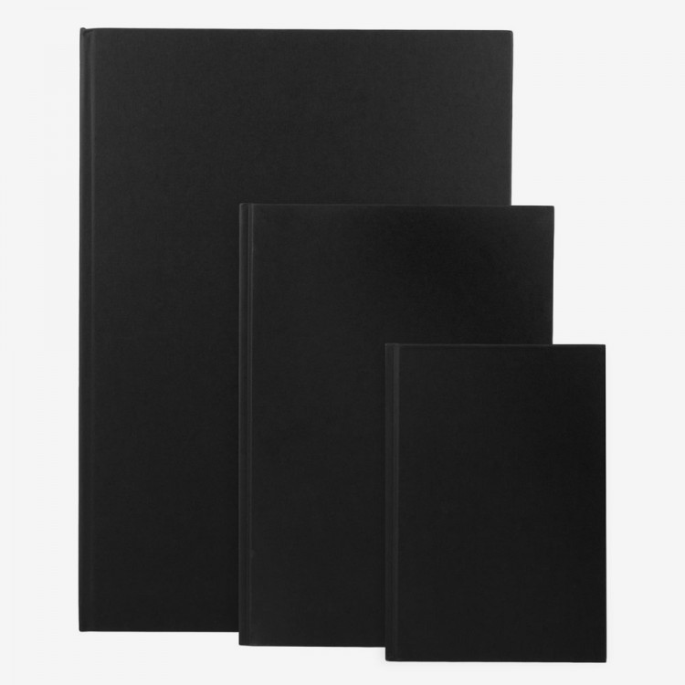 Seawhite : Case Bound Black Cloth Sketchbooks : 140gsm