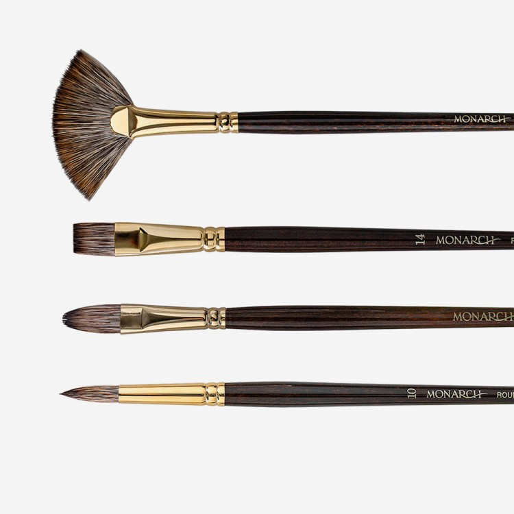 Winsor & Newton : Monarch Synthetic Mongoose Brushes