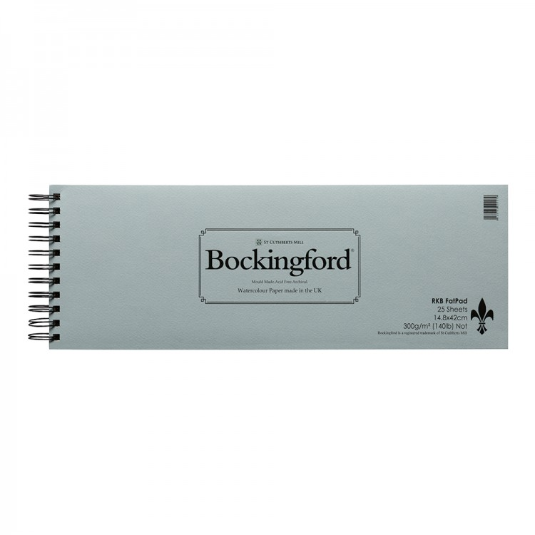 Bockingford : Spiral Fat Pad : Landscape : 15x42cm : 16.5x6in : 25 Sheets : Not